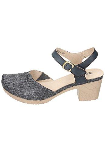 Manitu 910785, Sandalias con Correa de Tobillo Para Mujer gris