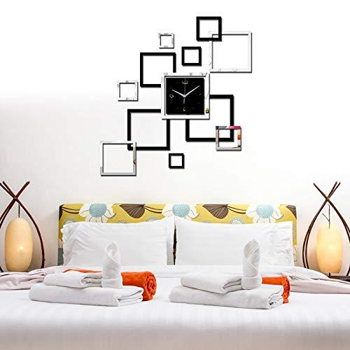 Amazon.com: ptk12 Wall Clocks - New 3D ayclic Mirror Clock Watch reloj de pared horloge Large Decorative Wall Clocks Living Room Modern Quartz 1 PCs: Home & ...