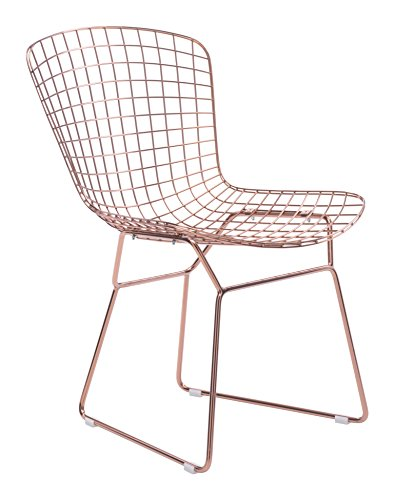 Zuo Modern 100361 Wire Slim Profile Solid Steel Frame Dining Chairs, 21.3