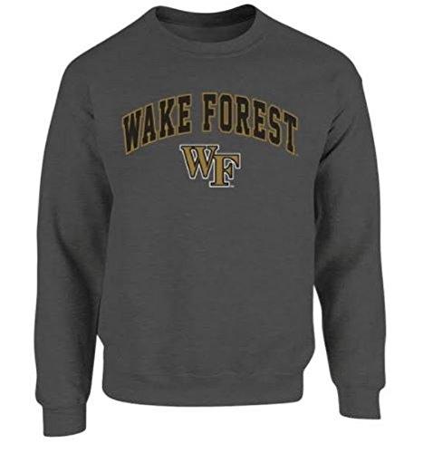 Wake Forest Demon Deacons Crewneck Sweatshirt Arch Charcoal - M