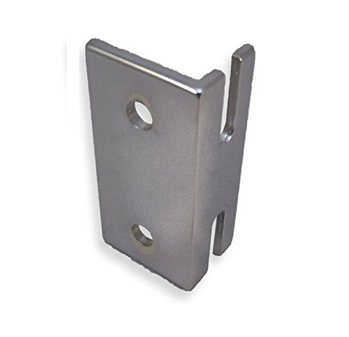 Chrome Plated Keeper For Throw Latch For Restroom Partition Doors - 1-1/2'' Between Mounting Hole Centers by Young's Catalog