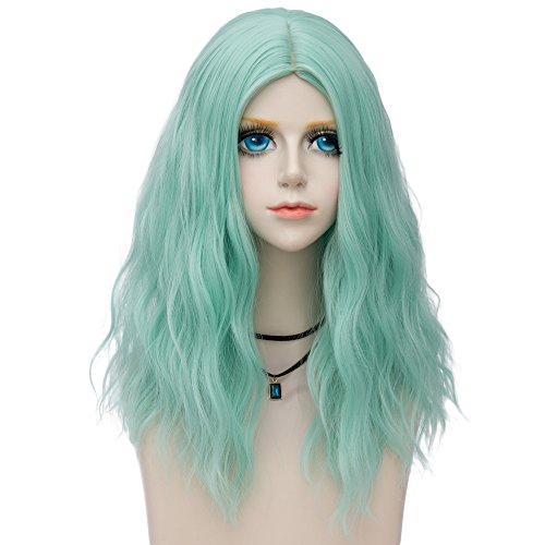 Probeauty Miracle &Forest Lady Collection Heat Resistant Synthetic Wigs Long Curly Women Cosplay Wig (60cm, Mint Green F12)