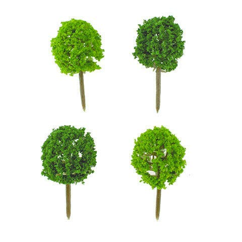 ShopForAllYou Figurines and Statues Miniature Dollhouse Fairy Garden - Mini Topiaries - Set of 4 - Accessories