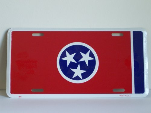 State License Plate (Tennessee State Flag License Plate)