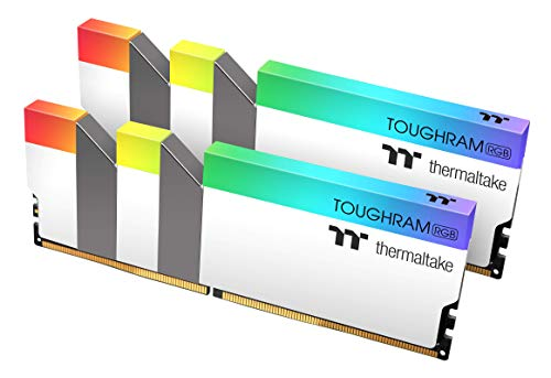 Thermaltake TOUGHRAM RGB WHITE DDR4 3200MHz 16GB (8GB x 2) 16.8 Million Color RGB Alexa 3600MHz R022D408GX2-3600C18A