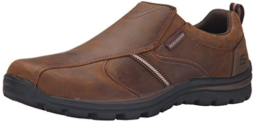Skechers USA Mens Superior-misko Slip-On Loafer Dark Brown O9zHvZRGs