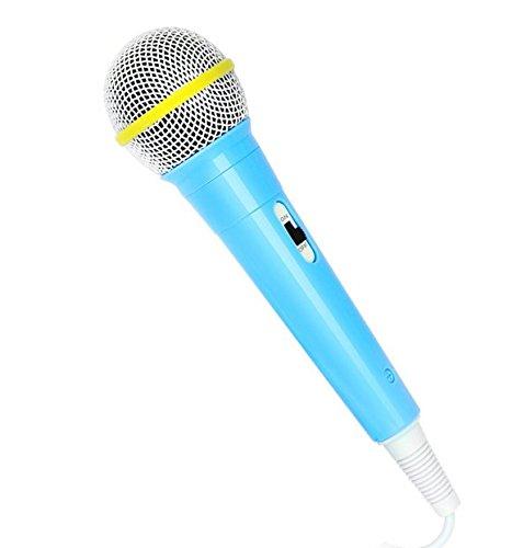 [해외]어린이 가라오케 머신 용 장난감 마이크 (블루)/Toy Microphone for Kids Karaoke Machine (Blue)