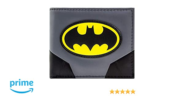 Cartera de Batman Traje original y logotipo Gris
