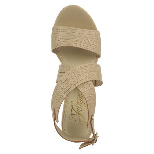 Fergie - Sandalias de vestir para mujer Nude Atanado Polyurethane