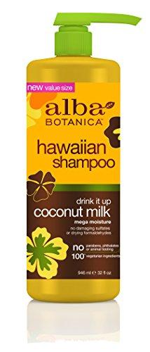 Alba botanica hawaiian shampoo with coconut milk.