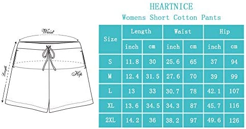 HEARTNICE Womens Cotton Pajama Shorts, 1 & 2 Pack Soft Short Pants for Women Lightweight Lounge Sleep Pj Bottoms