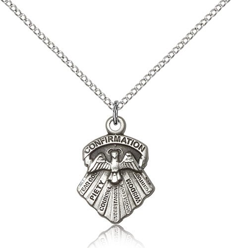 Sterling Silver Seven Gifts Pendant 18 Chain