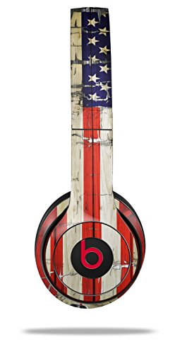 WraptorSkinz Skin Decal Wrap for Beats Solo 2 and Solo 3 Wireless Headphones Painted Faded and Cracked USA American Flag (Beats NOT ()