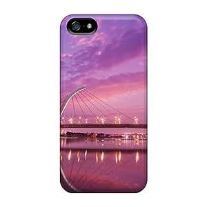 Hot Style Apn5849PVMO Protective Case Cover For Iphone5/5s(taipei Dazhi Bridge Sunset)