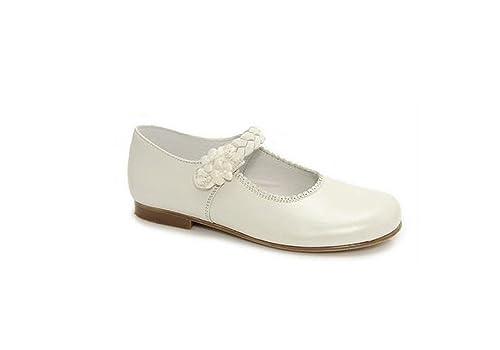 detailed look a6fa0 dd708 León Shoes Kommunion Schuhe Mädchen weiß 27, 29, 30: Amazon ...