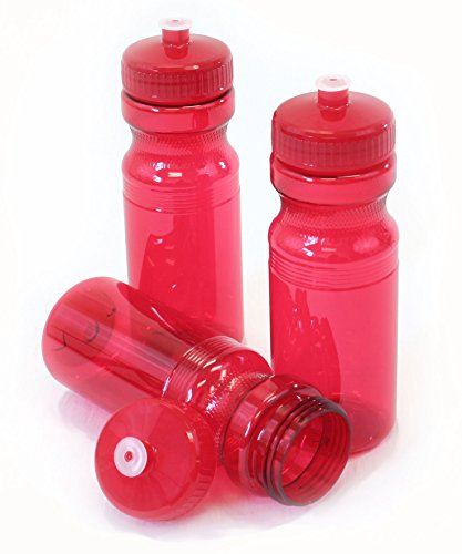 Rolling Sands 24oz Drink Bottles Red (Set Of