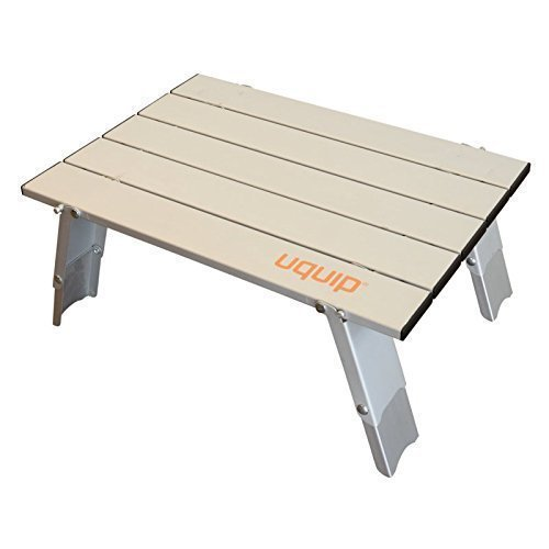- Uquip Handy Folding Roll Up Micro Side Table for Camping, Picnic, Travel, Beach