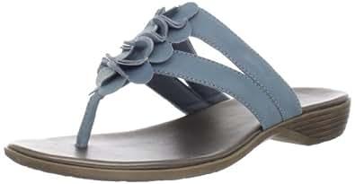 Clarks Women's Clarks Dusk Rio Thong sandal,Light Blue,6 M US