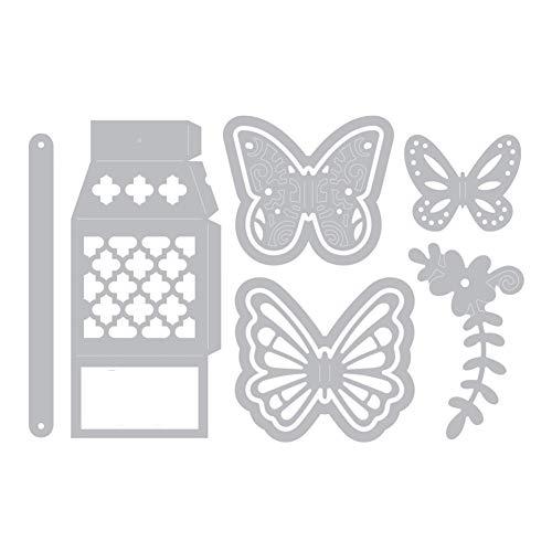 zmigrapddn Troqueles,Diseño de caja de regalo de mariposa Troqueles de corte plantilla moldes para hacer álbumes de recortes Álbum Tarjeta de papel ...