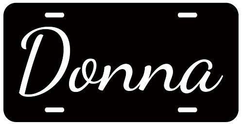 Personalized Name on License Plate - Black White Custom Auto Car Tag