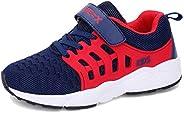 Luyosn Kids Sneakers Girls Breathable Light Mesh Sport Shoes Running Shoes for Boys Black Blue Pink Little Kid
