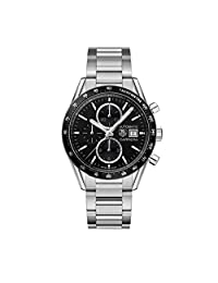 Tag Heuer Men's Carrera 41mm Steel Bracelet & Case Automatic Black Dial Analog Watch CV201AL.BA0723