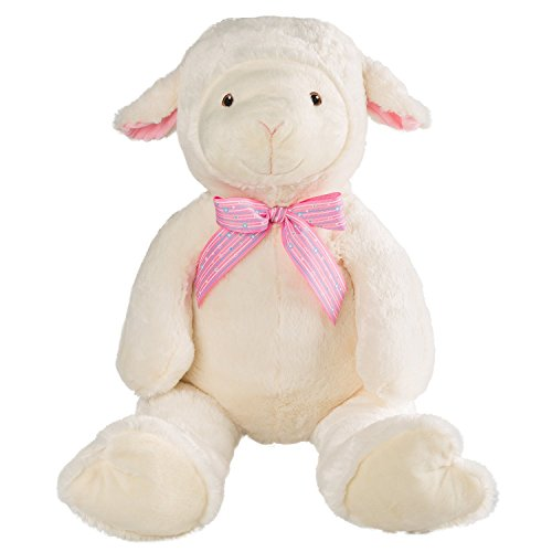 (HollyHOME Plush Sheep Stuffed Animal Ultra Cute Plush Lambs Doll 28 Inches)