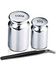 Calibration Weights for Digital Scale Balance 50g 100g Gram with 1pc Tweezer, Class M1, Scale Calibration Weight Set Kit Precision Weights (Set of 3)