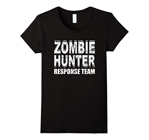 Zombie Response Costume (Womens Zombie Hunter T Shirt Response Team Costume Large Black)
