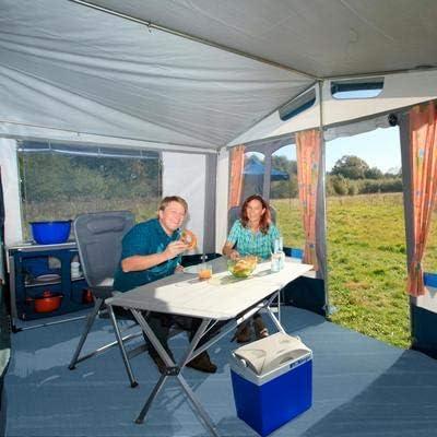 ideal f/ür Zelte Verschiedene Gr/ö/ßen robust BERGER Vorzeltteppich Soft blau Terrassen Balkone