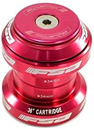 FSA Orbit MX 1-1/8Inches Threadless MTB Road Headset with Top Cap, Red, NO.20, XTE1509