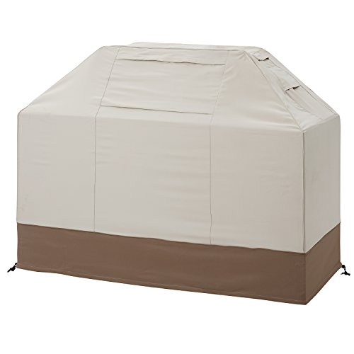 """Finnhomy Patio Grill Cover 70"""" Waterproof Outdoor Large Heavy Duty BBQ Gas Grill Cover with Fade & Weather Resistant Durable Material for Weber, Holland, Jenn Air, Brinkmann and Char Broil, Beige"""