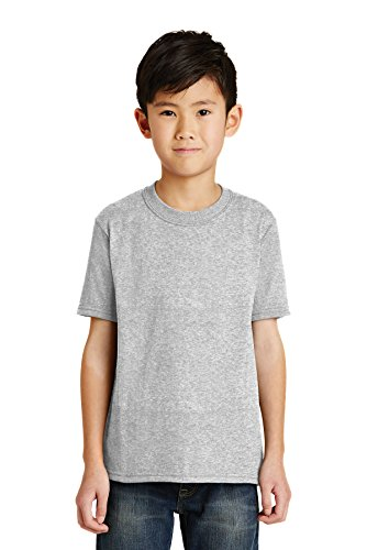 Port & Company RMK Youth Core Blend Tee (Pack of 72), Ash, Medium ()