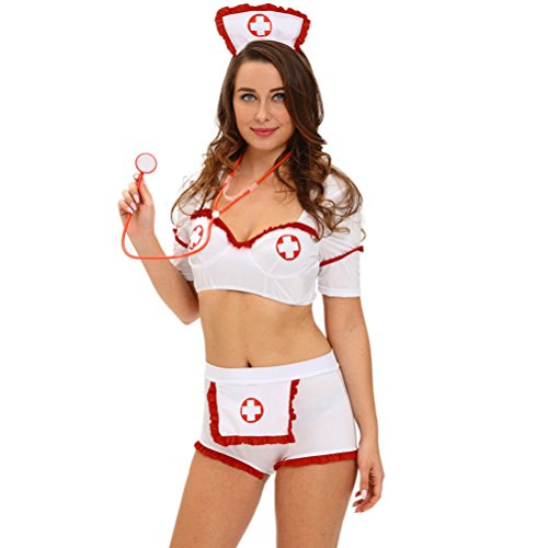 [YeeATZ Women's Drug Injection Flirt Nurse Costume(Size,M)] (Rikku Cosplay Costume For Sale)