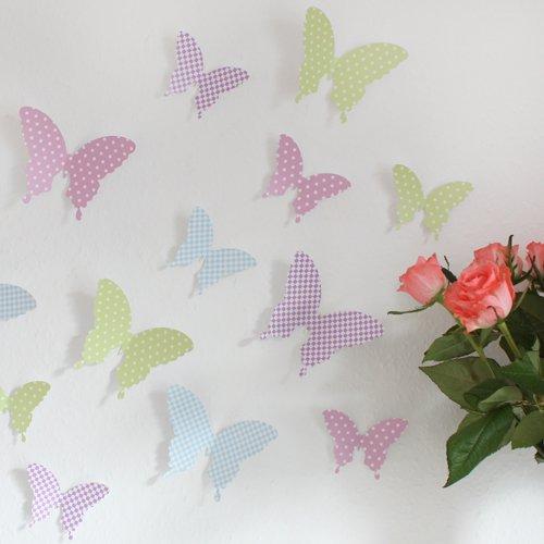 Amazon.de: Wandkings Schmetterlinge im 3D-Style in PASTELL Farben, 8 ...
