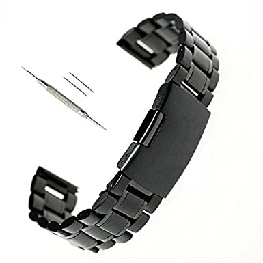 24mm Acero inoxidable reloj de pulsera banda Correa + destornillador para Sony SmartWatch 2 SW2-negro