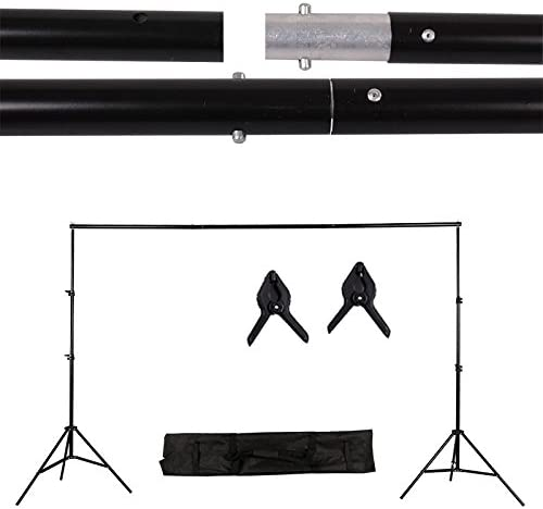 CanadianStudio Photography Video 1400 watt Output Studio Continuous Umbrella softbox Lighting Light Black//White//Green High Key Muslin Backdrop Stand Kit