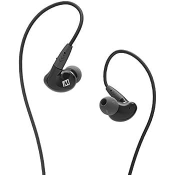MEE audio Pinnacle P2 High Fidelity Audiophile In-Ear Headphones with Detachable Cables Black (EP-P2-BK-MEE)