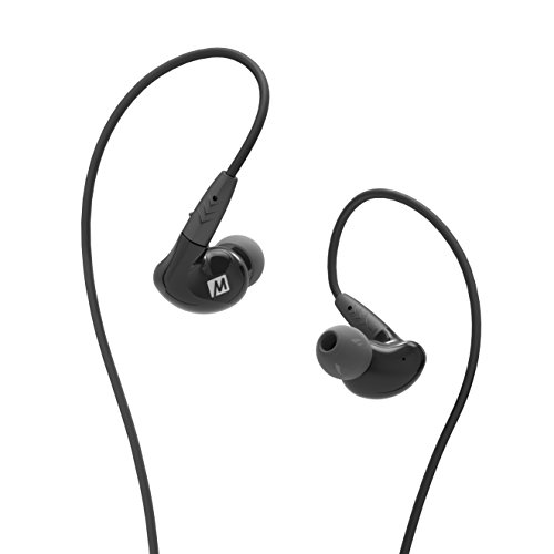 MEE Audio EP P2 BK MEE Pinnacle P2 High Fidelity Audiophile in Ear Headphones with Detachable Cables  Black