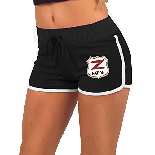 Fingertip Fashion Black Z Nation Girls-Women's Low Waist Hot Yoga Pants (Best Of Stereo Nation)
