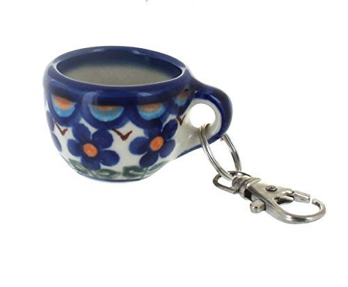 Polish Pottery Aztec Flower Key Chain ()