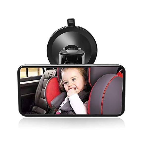 SunTop Specchio Auto Bambino Baby Bambino Vista Posteriore Specchio, specchietto retrovisore Bambino,Specchio per Auto… 1