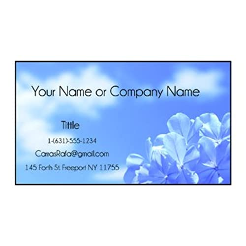 Printed business cards amazon design your own business cards from printing demand front only reheart Gallery