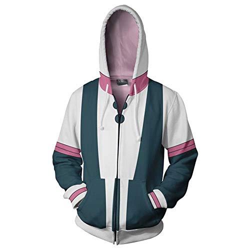 Broadmix My Hero Academia Hoodie - Boku No Hero Academia Hooded Sweatshirt Deku Cosplay Costume Izuku Midoriya Jacket Coat]()