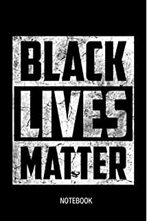 Black Lives Matters Funny Lined Blank Journal Notebook Gift