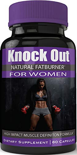 Instant Knockout Fat Burner for Women - High Impact Muscle Definition Weight Loss Dietary Pills (Best Pills To Get Ripped Abs)