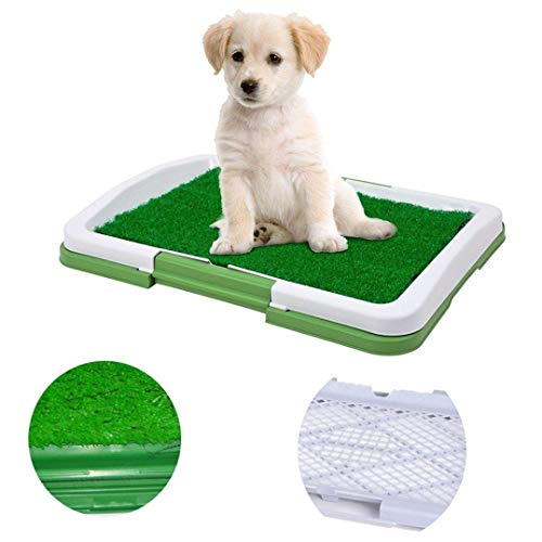 DEESEE Dog Indoor Potty Trainer Grass Pee Pad for Pet Cat Pu