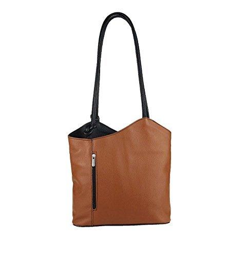 OBC Only-Beautiful-Couture - Bolso al hombro para mujer Rosa altrosa 27x29x8 cm (BxHxT) Cognac-negro