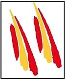 Artimagen Pegatina Bandera Trazo2 España 2 uds. 90x25 mm/ud.