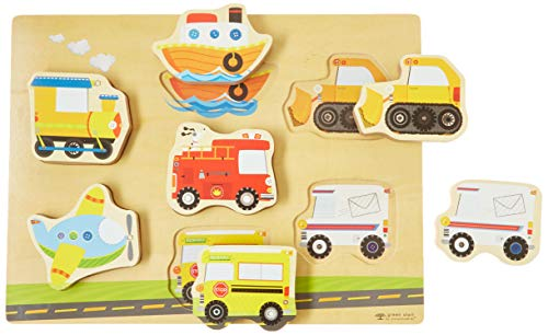 Innovative Kids Green Start Chunky Wooden Puzzles: Let's Go